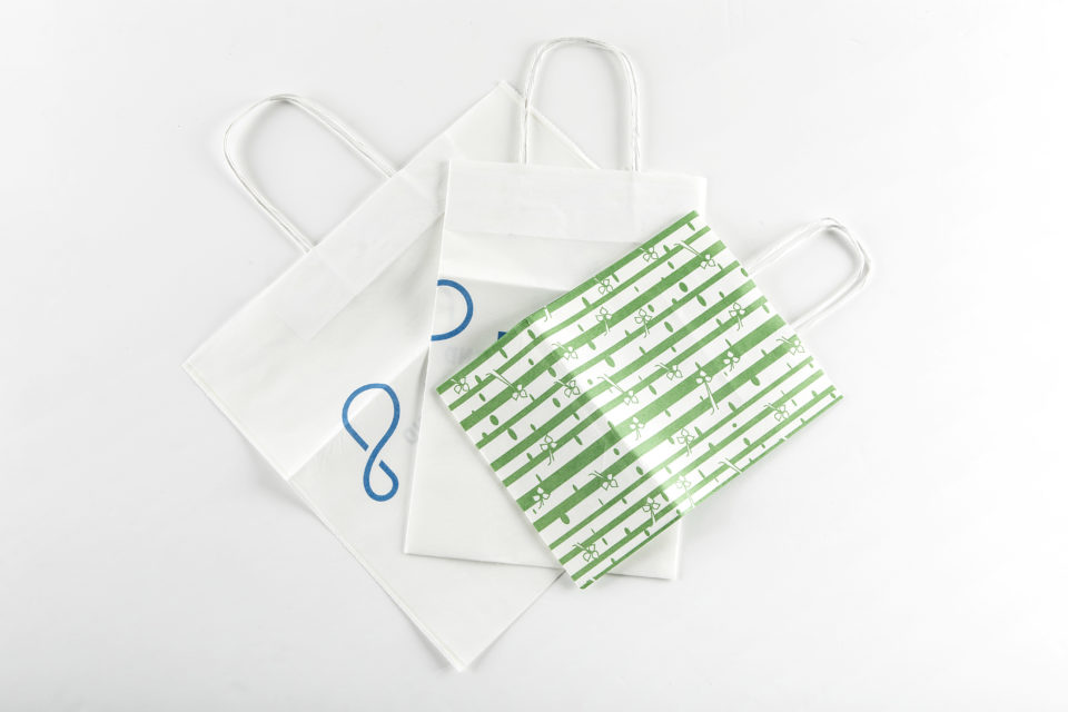 These are bags made of paptic - a sustainable packaging alternative to plastic.