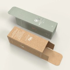 brown and white Kraft folding carton options for single bottles, with one colour and full colour prints