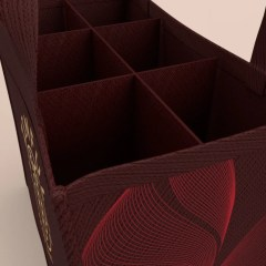 collapsible divider available, made with non-woven material