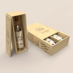 custom engraved wine boxes to hold one or two bottles