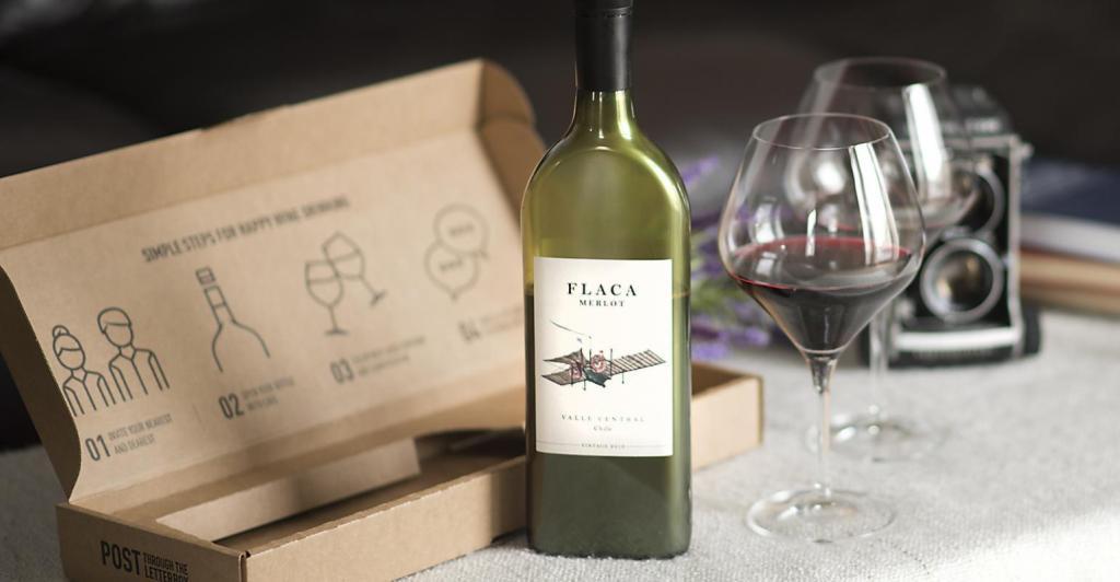 flat wine bottle packaging