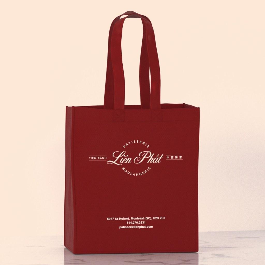 Liên Phát burgundy reusable bag