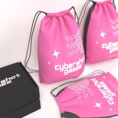 multiple designs created for this PP non-woven drawstring bag