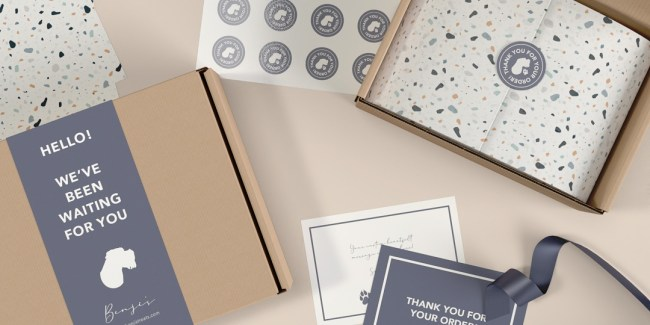 collection of e-commerce packaging options