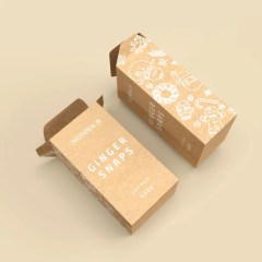 a cost-effective product with a natural brown Kraft paper base and 1 colour print