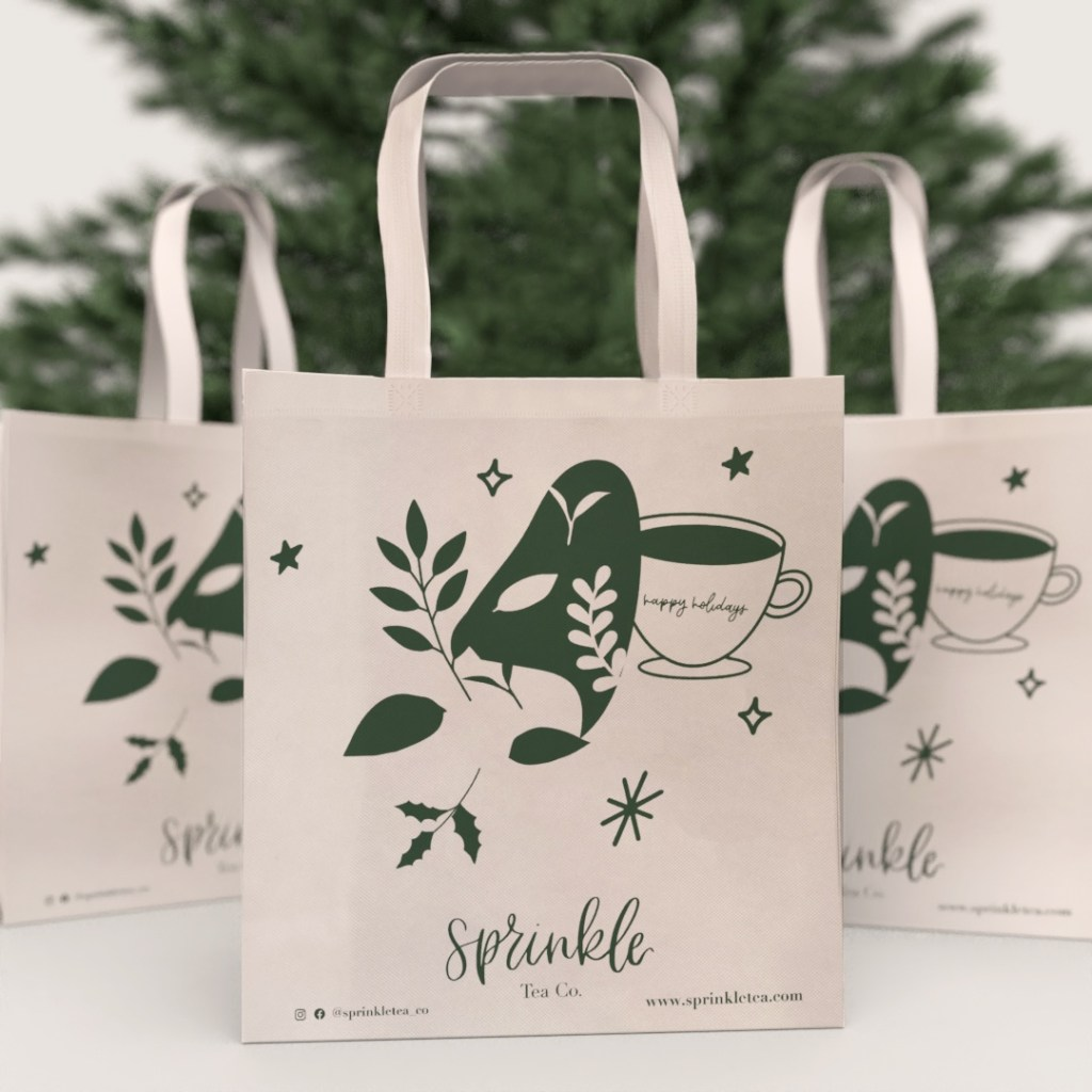 Screen printed reusable bag, to show different reusable bag printing techniques