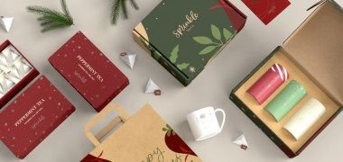 image showing holiday packaging for a brand named Sprinkle