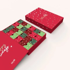 celebrate the season with high quality advent calendars with gold foil accents