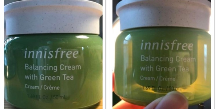 balancing cream with deceptive packaging.