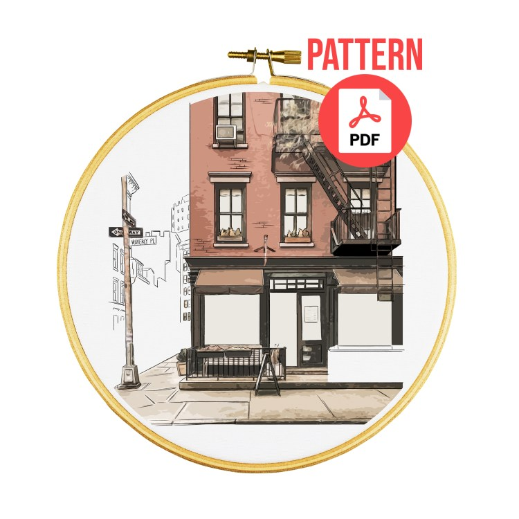 Greenwich Village embroidery pattern