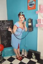 Le Keux Vintage Salon and Cosmetics - Vintage Pin Up Diner- Hannah 1