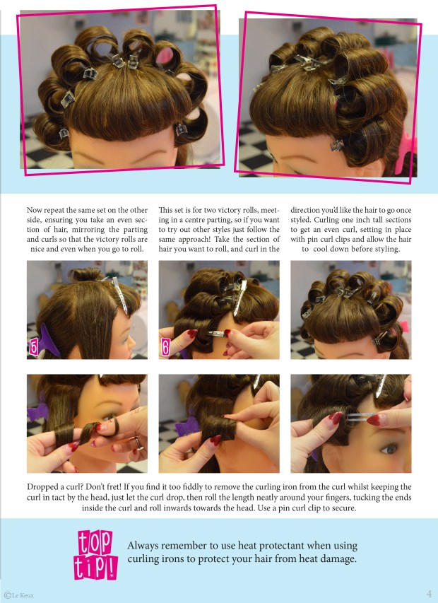 Page 2 of how to preset your hair for easier rolling, le keux tutorial prepare your hair for vintage styling