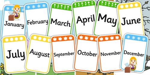 English Months Name