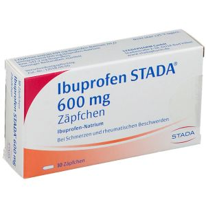 Ibuprofen STADA® 600 Zäpfchen, Suppositorien,  10 St