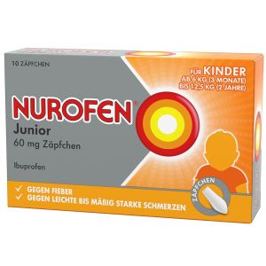 Nurofen® Junior 60 mg Zäpfchen, Suppositorien,  10 St