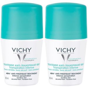 VICHY DEODORANT ROLL-ON, 2X50 ml
