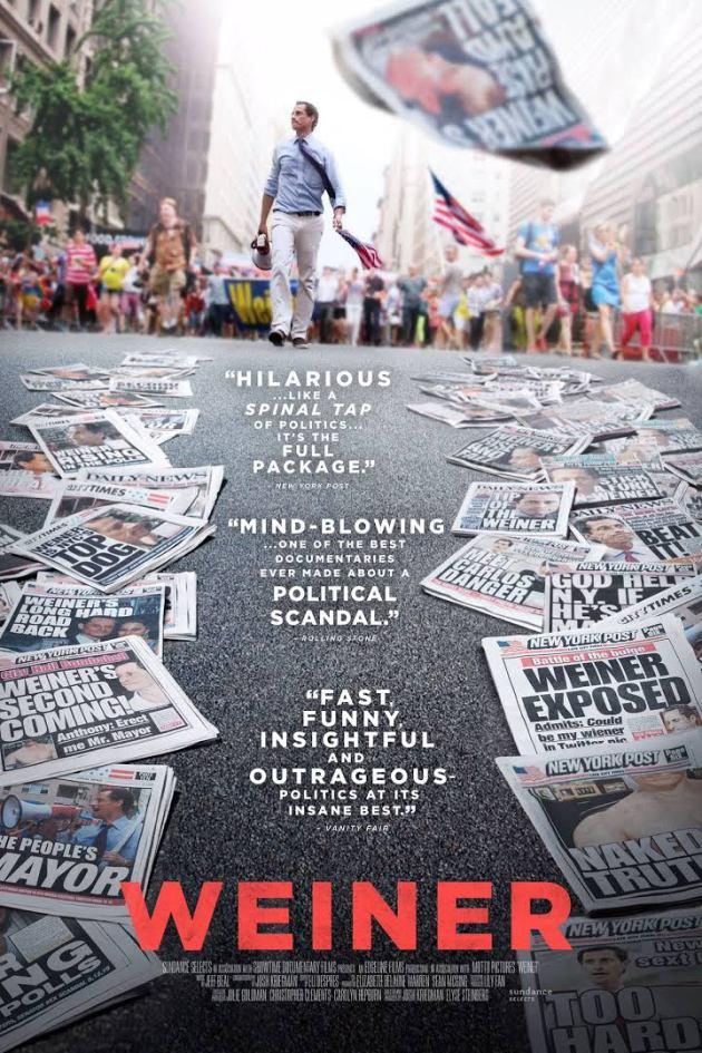 """Weiner"", le documentaire sorti le 20 mai 2016 Elyse Steinberg , Josh Kriegman"