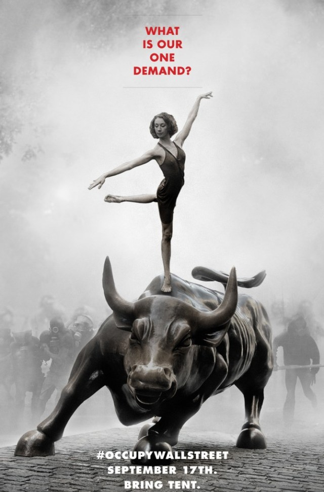 Poster Original du rassemblement à  Zuccotti Park le 17 septembre 2011