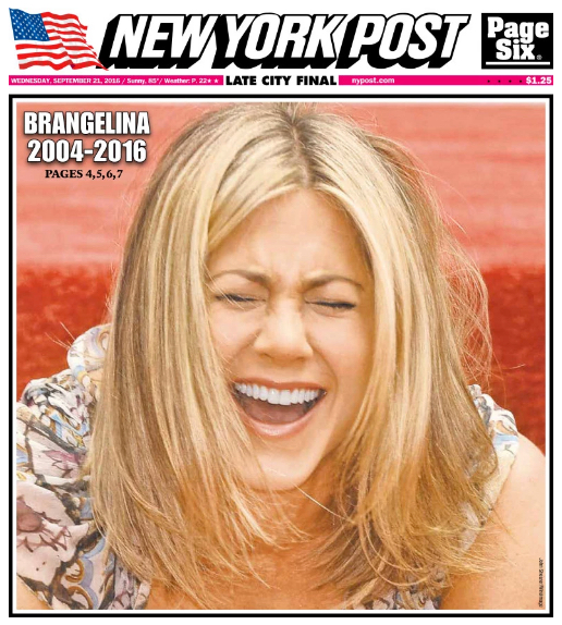 New York Post - Edition du 21 septembre 2016