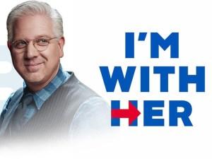 Fausse affiche publicitaire avec Glenn Beck et le logo de HRC