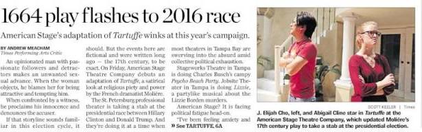 Tampa Bay Times - Edition du lundi 24 octobre 2016