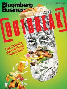 """Bloomberg BusinessWeek - 28/12/15 issue : """"est ce que Chipotle peut survivre aux intoxications alimentaires?"""""""