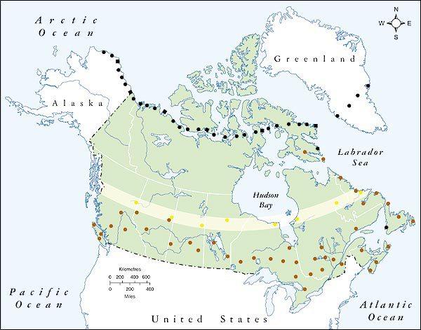 1957 : Fin de la construction de la Dew Line dans l'Arctique. Aussitôt démodée. Elle ne peut rien contre les missiles russes.