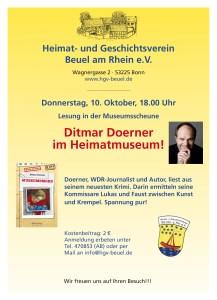 Plakat - Ditmar Doerner - Museumsmord