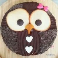 molly cake - hibou - facile - 1 an - anniversaire - gâteau