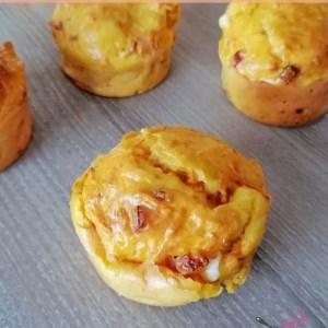muffins carottes, bacon feta