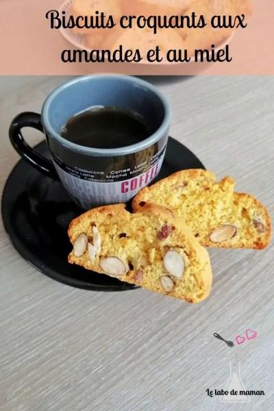 Biscuits amandes miel