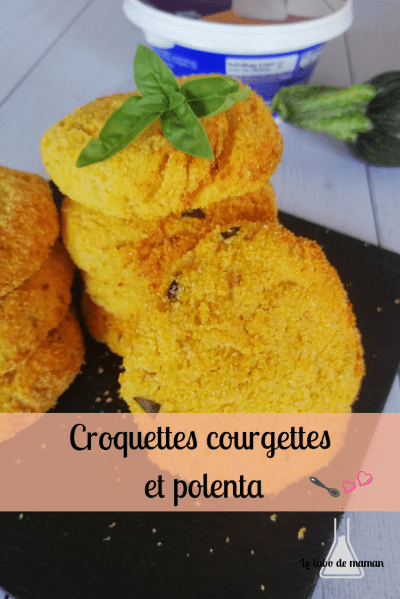 galettes courgettes ricotta polenta