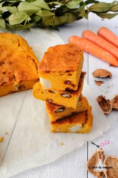 brownie carottes chèvre noix