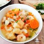 cabillaud crevettes curry