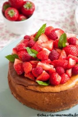 cheesecake fraises marion