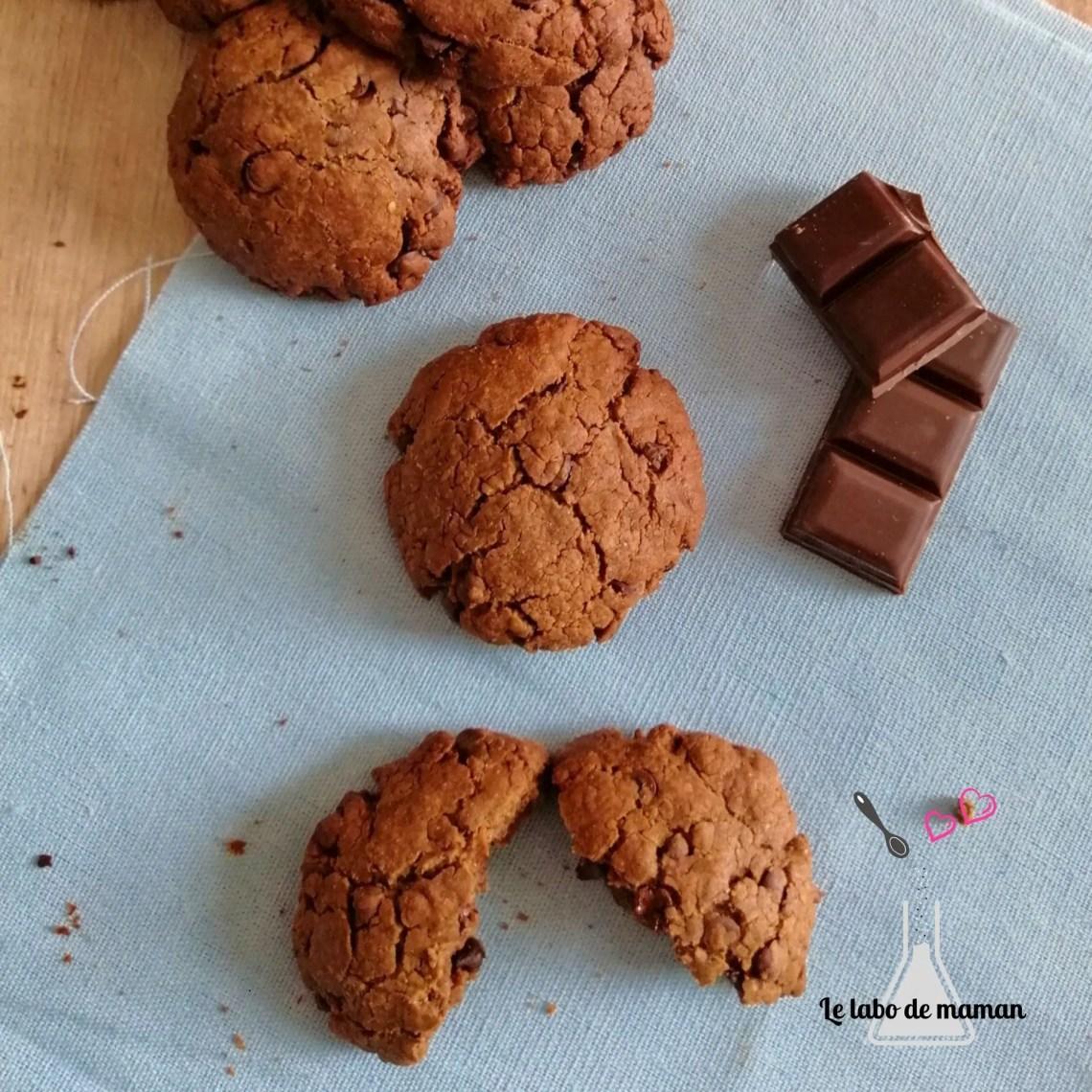 cookies cacahuète chocolat
