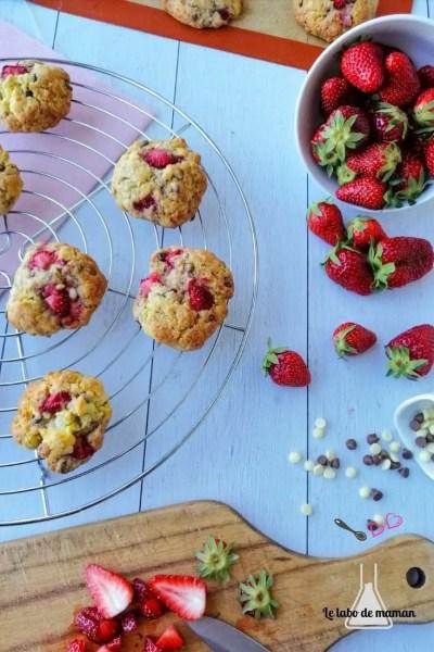 cookies chocolat fraises companion