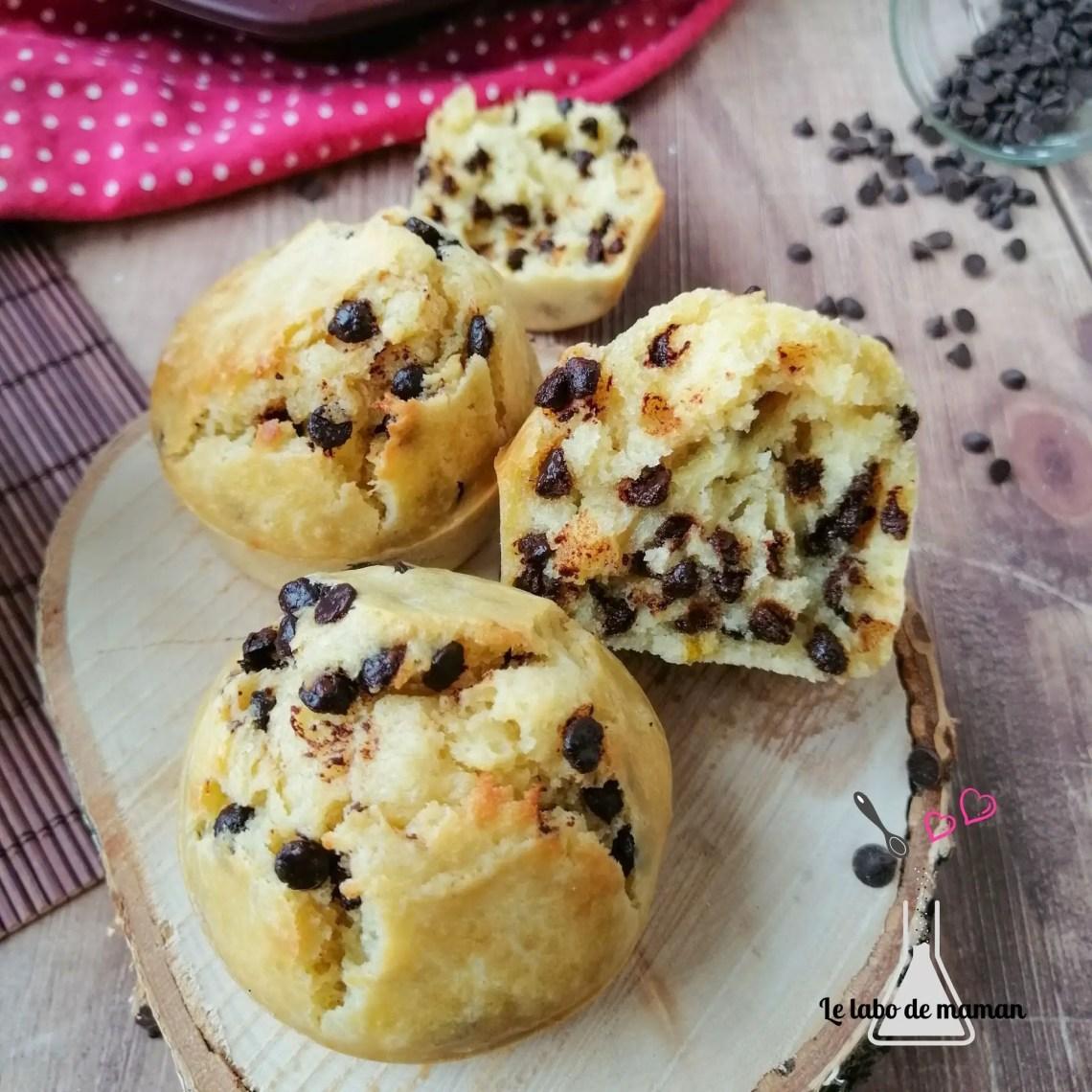muffins moelleux pépites chocolat