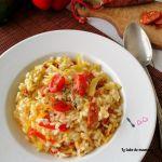 risotto courgette chorizo