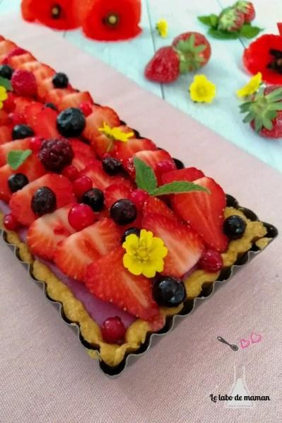 tarte panna cotta fruits rouges