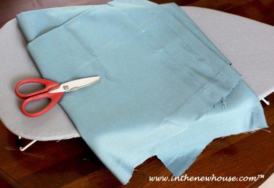 Trim fabric to size