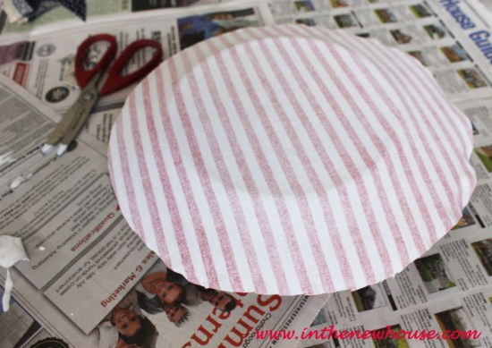 cover plate with fabric