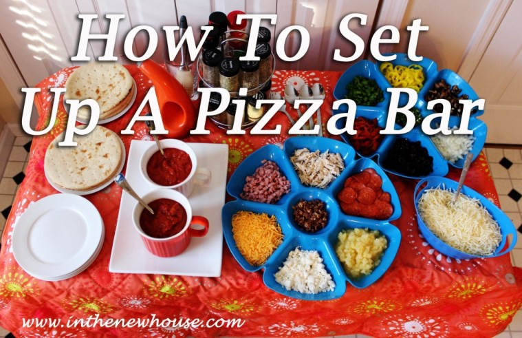 How To Set Up A Pizza Bar via In The New House Designs