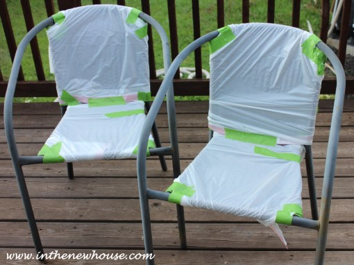 Patio Chairs Paint Prep