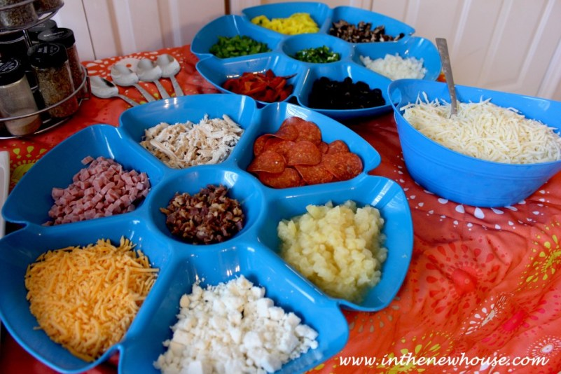 Pizza Bar toppings