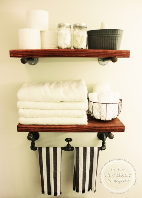 Industrial Farmhouse Bathroom Shelving