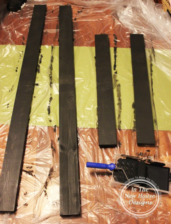 Paint boards for frame on all sides