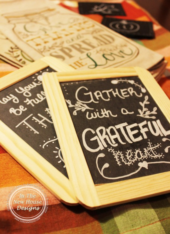 2-Sided Handpainted Thanksgiving Chalkboard Signs