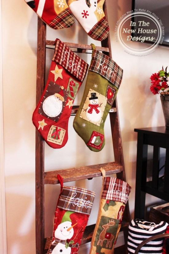 Stockings on blanket ladder