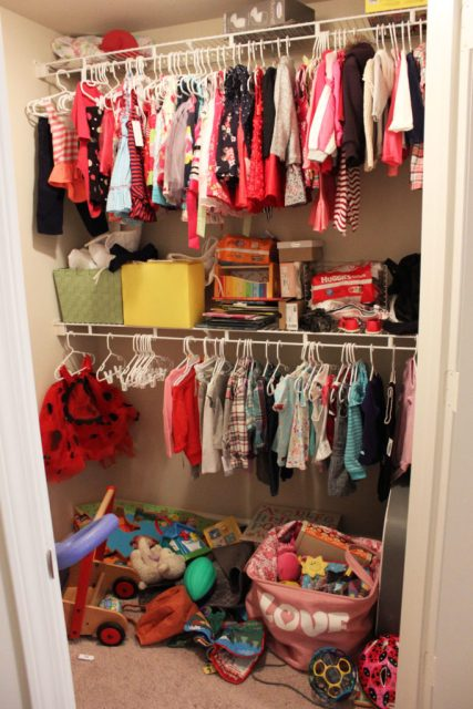 Child closet before